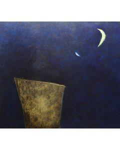 Luca Bonfanti, Notturno, acrilico su tela, 50x60 cm
