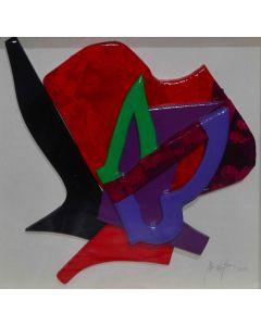 Dario Brevi, Le Farfalle, tecnica mista, 21,5x21,5 cm