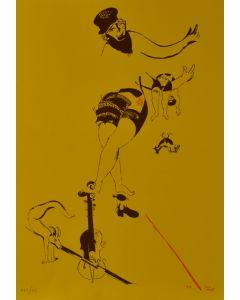 Marc Chagall, Acrobata, litografia, 48x34 cm