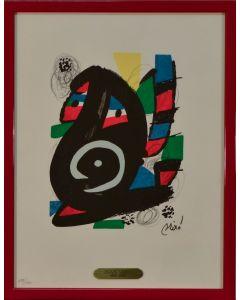 Joan Mirò, La Melodia Acida XIV, litografia, 25x35 cm, 1980