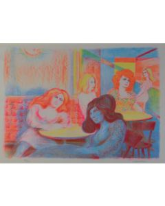 Aligi Sassu, Senza titolo, serigrafia, 50x70 cm