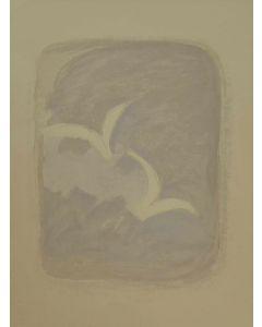 "Georges Braque, litografia a colori tratta dal volume ""Descente aux enfers"" di Marcel Jouhandeau, 25x32 cm, 1961"