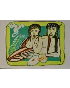 Remo Brindisi, Senza titolo, serigrafia, 50x70 cm