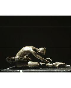 Kossuth Wolfgang Alexander, Cigno con tutu, bronzo, h 37 cm, 2003