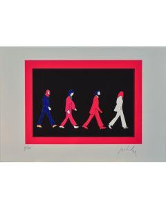Marco Lodola, Beatles, serigrafia materica, 35x50 cm