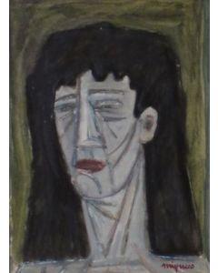 Giuseppe Migneco, Senza titolo, olio su tavola, 29x23 cm