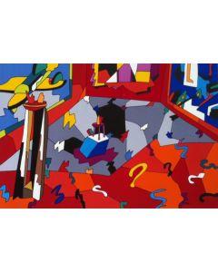 Ugo Nespolo, Senza Titolo, serigrafia su cartone, 70x99 cm