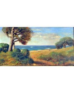 Giovanni Malesci, Antignano (Livorno), olio su tavola, 87x48 cm, 1926