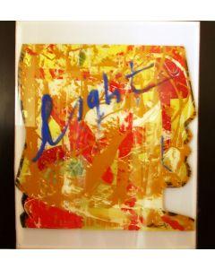 Carlo Massimo Franchi, tecnica mista su plexIglass intagliato illuminato con led, 65x65x15 cm