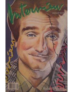 Andy Warhol, Interview – August 1986, rivista con copertina firmata dall'artista, 42,5x27,5 cm