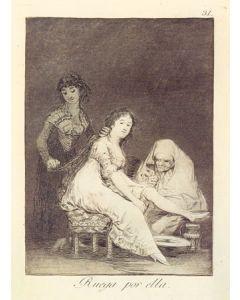 Francisco Goya, Ruega por ella, acquaforte, 29x21 cm