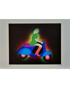Marco Lodola, Senza titolo, litografia, 50x35 cm