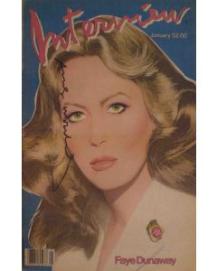 Andy Warhol, Interview – January 1982, rivista con copertina firmata dall'artista, 42,5x27,5 cm