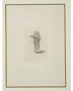 Giovanni Fattori, Ciociara, acquaforte su zinco, 20x13 cm, tiratura del Centenario, 1925