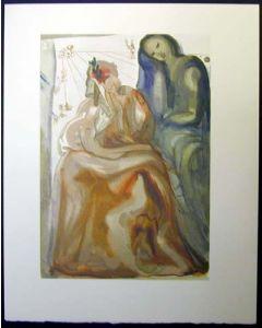 Salvador Dalì, Il risveglio, xilografia, 26x33 cm, tratta da La Divina Commedia, 1951-60