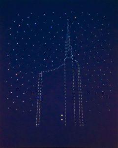 Bruno Budassi (Del Buda), Oltre, tecnica mista, 100x80 cm