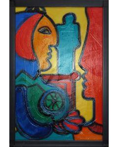 Carlo Massimo Franchi, Stargate Light IV, tecnica mista su plexiglass opalino, 41x28,5x13,5 cm