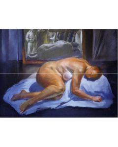 Wolfgang Alexander Kossuth, Studio di nudo, pastelli, 70x93 cm, 2005