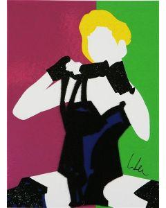 Marco Lodola, The Popstar Madonna, serigrafia a 20 colori, 23x17 cm