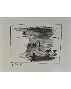 Pablo Picasso, Les Banderilles, litografia, 50x65 cm