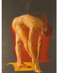 Wolfgang Alexander Kossuth, Francesca, Pastelli su carta, 84x65 cm