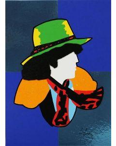 Marco Lodola, The Rockstar Bob Dylan, serigrafia a 20 colori, 23x17 cm
