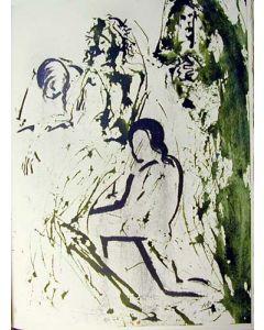 Salvador Dalì, litografia tratta da La Sacra Bibbia, 50x40 cm, 1969