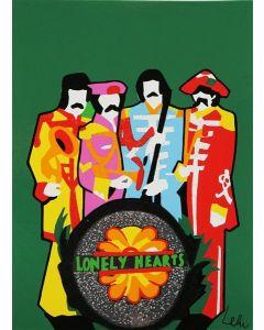 Marco Lodola, The Rockstars The Beatles, serigrafia a 20 colori, 23x17 cm