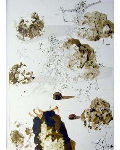 Salvador Dalì, Omnes gentes in valle Iosaphat, litografia, 50x39 cm, tratta da La Sacra Bibbia, 1967