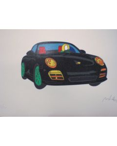 Marco Lodola, Porsche, serigrafia, 50x70 cm