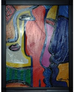 Carlo Massimo Franchi, Stargate Light III, tecnica mista su plexiglass opalino, 35,5x27,5x13 cm