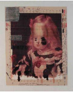 Enrico Pambianchi, Sacro Cuore, tecnica mista su tela, 34,5x42 cm, 2013