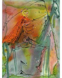 Salvador Dalì, Il cavallo della morte, litografia, 36x56 cm tratta da Les Chevaux de Dalì, 1970-72