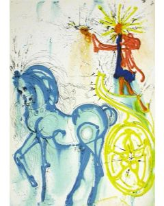Salvador Dalì, Il cavallo di trionfo, litografia, 36x56 cm tratta da Les Chevaux de Dalì, 1979-72