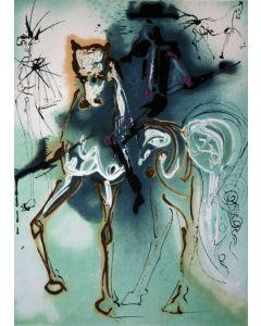 Salvador Dalì, Il Picador, litografia, 36x56 cm tratta da Les Chevaux de Dalì, 1970-72