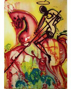 Salvador Dalì, San Giorgio, litografia, 36x56 cm tratta da Les Chevaux de Dalì, 1970-72