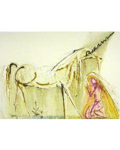 Salvador Dalì, Unicorno, litografia, 56x36 cm tratta da Les Chevaux de Dalì, 1970-72