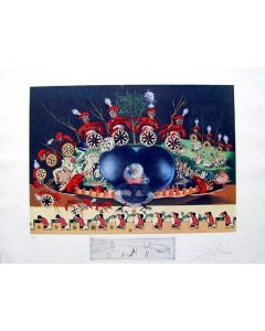 Salvador Dalì, Atavism, litografia, 75x55 cm tratta da Les Diners de Gala, 1971