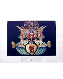 Salvador Dalì, Monarchial Flesh Tones , litografia, 75x55 cm tratta da Les Diners de Gala, 1971