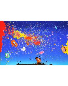 Renzo Nucara, Resinfilm 257B, serigrafia materica, 60x92 cm