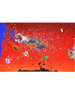Renzo Nucara, Resinfilm 257R, serigrafia materica, 60x92 cm