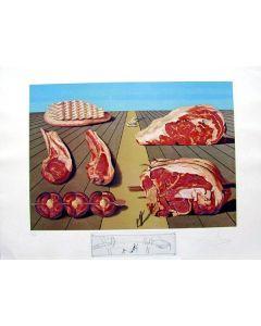 Salvador Dalì, Sodomized Entress, litografia, 75x55 cm tratta da Les Diners de Gala, 1971