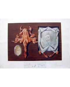 Salvador Dalì, Putniks Polished by Statistical Maggots, litografia, 75x55 cm tratta da Les Diners de Gala, 1971