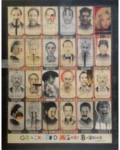 Enrico Pambianchi, Gran Budapest Burdhel, tecnica mista e collage su tela, 90x70 cm