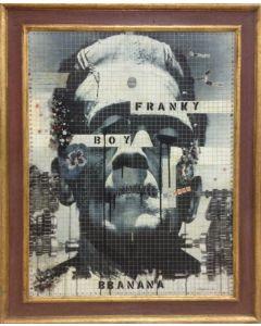 Enrico Pambianchi, BBanana, tecnica mista e collage su tavola, 90x70 cm