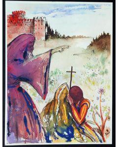Salvador Dalì, Atto II, Scena VI, serigrafia, 31x42 cm, tratta da Romeo e Giulietta, 1975