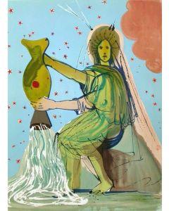 Salvador Dalì, Acquario, litografia, 80x60 cm, tratta da Twelve Signs of the Zodiac, 1967