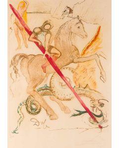 Salvador Dalì, The lance of chivalry, litografia, 80x60 cm, 1978/79