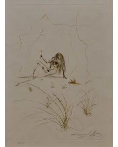 Salvador Dalì, Ogrin, l'eremita, acquaforte a colori, 40x26,5 cm, 1970