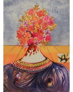 Salvador Dalì, The Flowering of Inspiration (Gala en flours), litografia, 74,8x54,5 cm